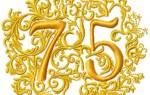 Открытки с днем рождения юбилей 75 лет