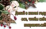 Индивидуальные пожелания на новый год. Красивые пожелания на новый год в стихах