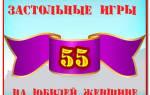 Пожелания юбиляру 55 лет. Сценарии на день рождения, взрослые конкурсы для юбилея